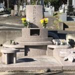 比企郡滑川町の成安寺墓地にて洋型墓石をおつくりしました