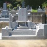 比企郡滑川町の成安寺墓地にて洋型墓石をおつくりいたしました