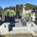比企郡滑川町の個人墓地にて、石塔は尺1寸角の和型墓石を建立いたしました
