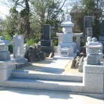 深谷市の共同墓地にて五輪塔をおつくりしました