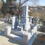 大里郡寄居町の不動寺墓地にて和型墓石の建立をいたしました