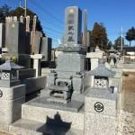 鶴ヶ島市の満福寺墓地にて、和型墓石の建立+佐賀県天山石で石塔と灯篭をおつくりしました