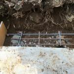 児玉郡美里町円良田の個人墓地に墓石を建てる為の補強工事にきました。