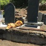 児玉郡美里町円良田の個人墓地に墓誌を建てるための準備に行きました。