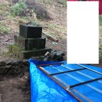 児玉郡美里町猪俣の個人墓地に現地調査に行きました。