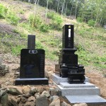 児玉郡美里町円良田の個人墓地に墓石と墓誌を建てに行きました。