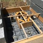 大里郡寄居町富田の不動寺様で墓石の基礎工事が終了しました。