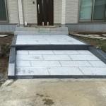 比企郡吉見町にて住宅のアプローチの石張り工事が完成しました。