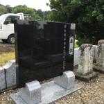 比企郡小川町高見の共同墓地に墓誌を建てに行ってきました。