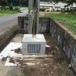 比企郡滑川町福田の成安寺様に奉納者の石板を設置してきました。