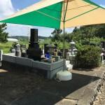 比企郡小川町高見の共同墓地に納骨にいきました。