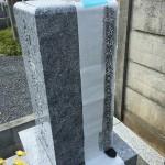 鶴ヶ島市の墓地に戒名彫刻のための準備に行ってきました。
