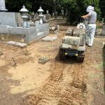 比企郡滑川町成安寺様で、お墓の解体工事中です。