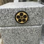 比企郡小川町の共同墓地で金箔の施工を行いました。