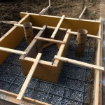 大里郡寄居町不動寺様にて基礎工事を開始しました。