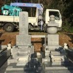 比企郡嵐山町の広正寺様に石塔が完成しました。