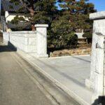 大里郡寄居町で石塀工事が完了しました。