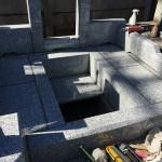 鶴ヶ島市の墓地で外柵工事中です。