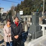 鶴ヶ島市の墓地で千草石ぼ墓石の建立が終わりました。