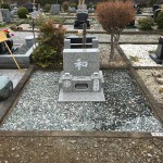 秩父聖地公園で墓石建立工事が終了しました。
