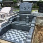 川越市のカトリック教会の墓地にお墓が完成しました。