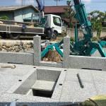 比企郡小川町の個人墓地にて外柵工事が少し進みました。
