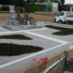 深谷市の墓地にて植樹および白砕石工事が完成いたしました。