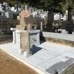 秩父郡長瀞町で本小松石の自然石でお墓が完成しました。