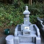 秩父郡東秩父村にて五輪塔のお墓が完成しました。