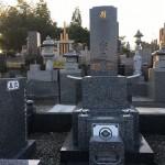 大里郡寄居町不動寺にて深山ふぶきという石材を使用したお墓が出来上がりました。