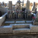 大里郡寄居町にて五輪塔と夫婦墓の点検を行いました。