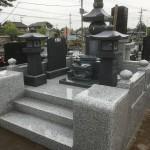 大里郡寄居町不動寺様にて五輪塔のお墓が完成しました。