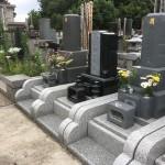 鶴ヶ島市の満福寺様に庵治石細目とインパラブルーをマッチングした石塔の開眼供養が執り行われました。