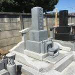 宮城県産磐梯みかげ石9寸の石塔が鶴ヶ島市満福寺様墓地に完成しました。
