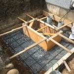 滑川町成安寺様にて基礎工事を行いました。