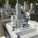 滑川町成安寺様にて庵治石の石塔が完成しました。