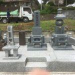 群馬県東吾妻町にて天山石の石塔・五輪塔が完成しました。