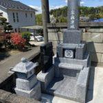 埼玉北部の滑川町にて佐賀県産天山石を使用した神道型のコンパクトなお墓が完成しました。