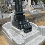 滑川町成安寺様で少しだけデザインされたお墓が完成
