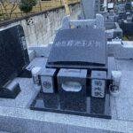 比企郡小川町西光寺様でデザインされたお墓が完成しました。南アフリカ産インパラブルーの洋風墓