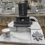 滑川町成安寺様にてデザイン墓が完成しました。